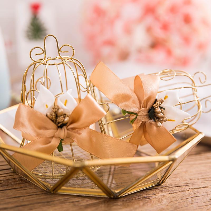 煜天欧式马口铁喜糖盒创意婚庆糖果盒鸟笼铃铛伴手礼盒高档铁艺盒