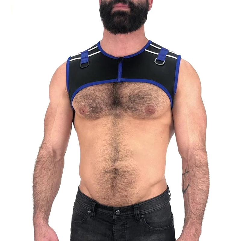 【现货】Nasty Pig 柔软舒适拉链撞色线条搭扣男士弹力肩带胸带