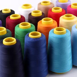 缝纫机线家用大卷402细线DIY缝衣线3000码宝塔线白黑线团手缝针线
