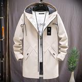 外套男士秋冬季加绒2019新款韩版潮春装机能夹克上衣服中长款风衣