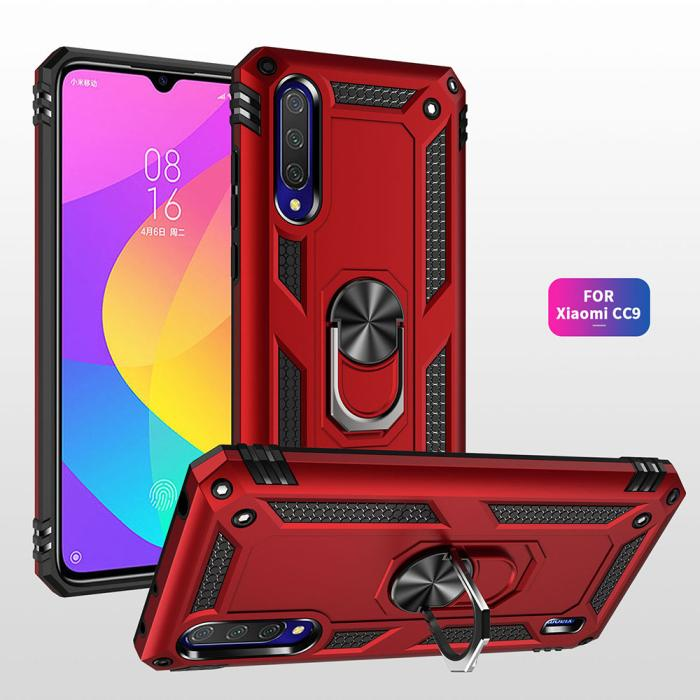 Applicable to Xiaomi cc9 cc9e A3 Lite red rice 7a armor fall proof mobile phone cover protective case ring support