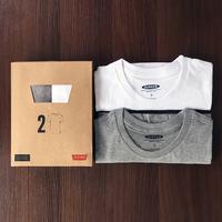 查看2件】美式t恤男短袖纯棉宽松夏季男士2021新款打底衫全棉纯色白色价格