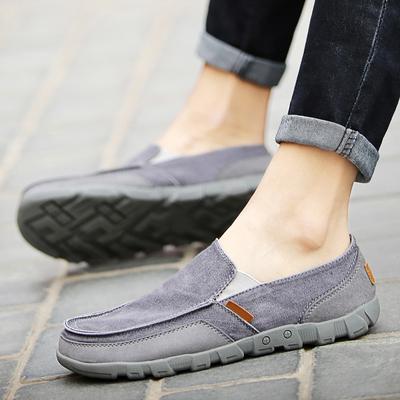 老北京布鞋男45一脚蹬男鞋46秋季透气单鞋47宽脚休闲鞋大码帆布鞋