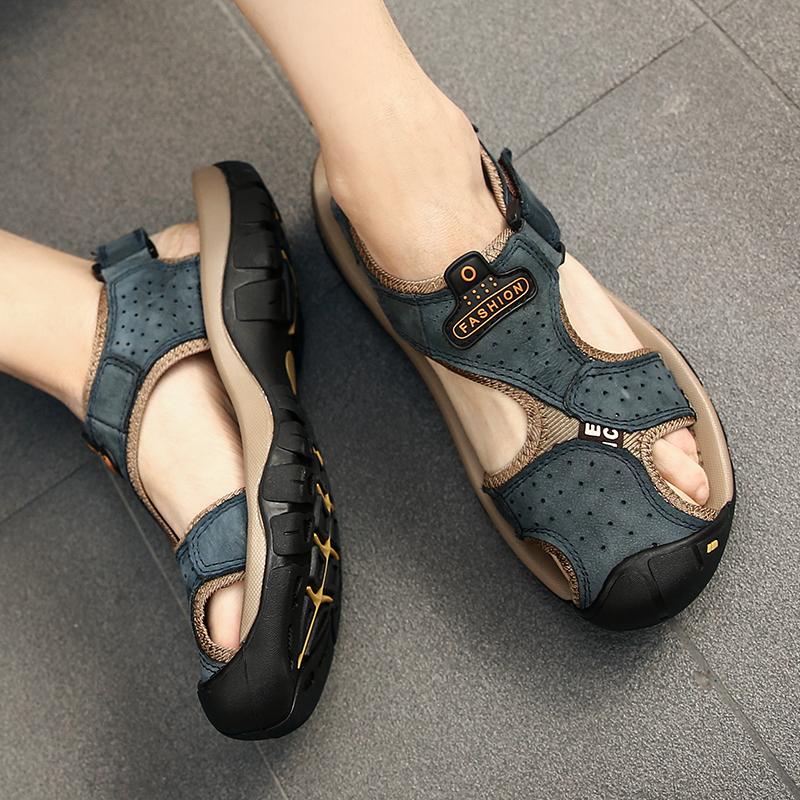 加大码夏季2019新款45韩版真皮凉鞋热销28件限时抢购