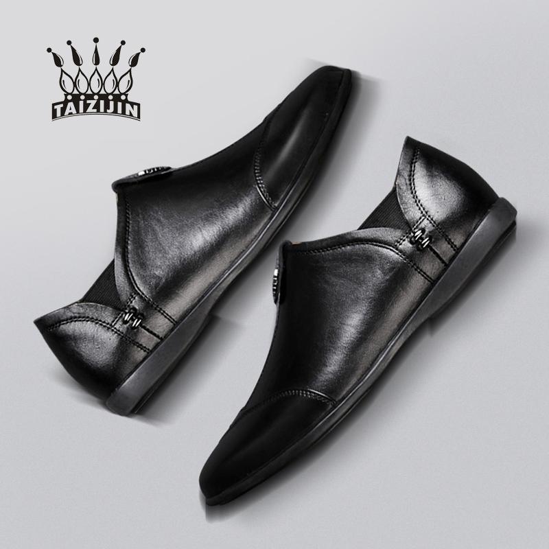 夏季商务男士皮鞋透气软面皮休闲皮鞋男真皮韩版潮流头层牛皮男鞋
