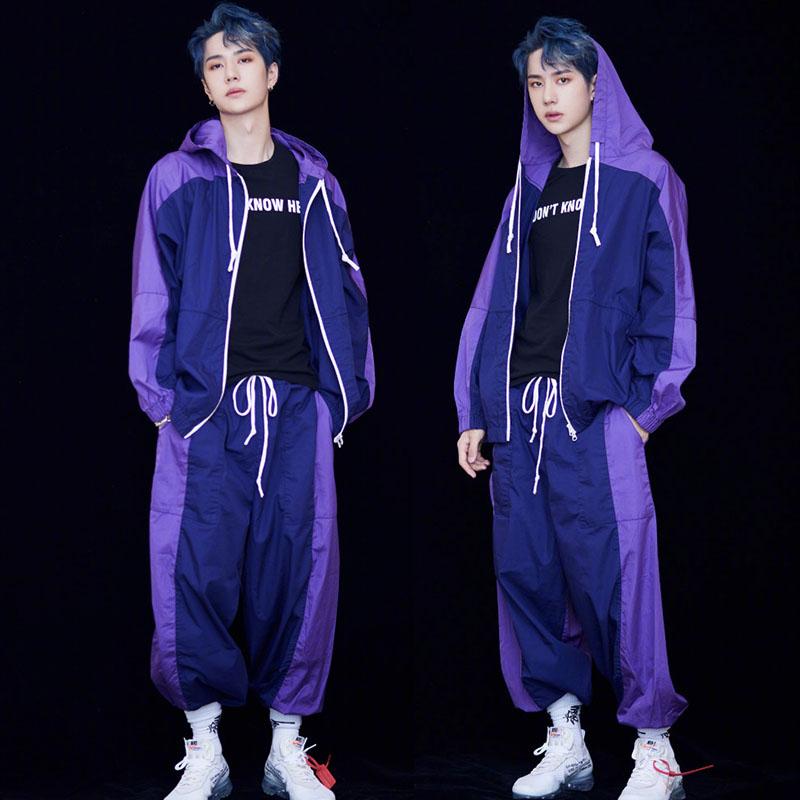 潮牌hiphop嘻哈外套创造101王一博同款宽松女情侣ins运动男上衣夏