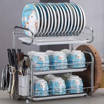 廚房置物架用品用具晾洗放瀝水碗架碗柜碗碟碗筷盤刃收納盒餐具架