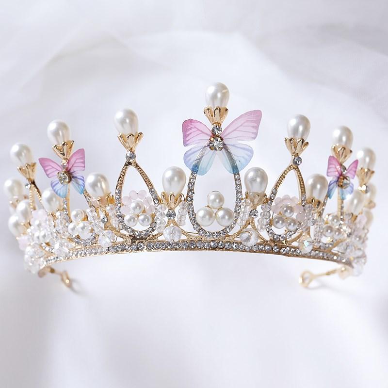 儿童小皇冠头饰公主发饰小孩发箍发夹韩国超仙花童配饰品女童王冠