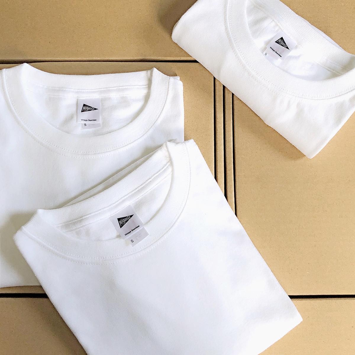米高格【轻磅】230g纯白薄款T恤打底衫男女宽松纯棉圆领短袖