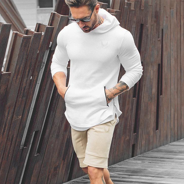 Gym Muscle Shirt brother shark autumn winter running fitness mens Hooded Sweater mens coat thin Pullover mens coat