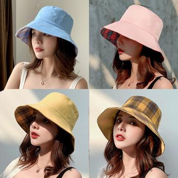 网红渔夫帽女士夏天日系遮脸韩版潮遮阳帽大沿防晒太阳帽双面帽子