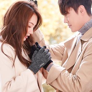 触屏手套女士冬季魔术秋男士保暖薄款毛线情侣学生防寒全手加绒棉