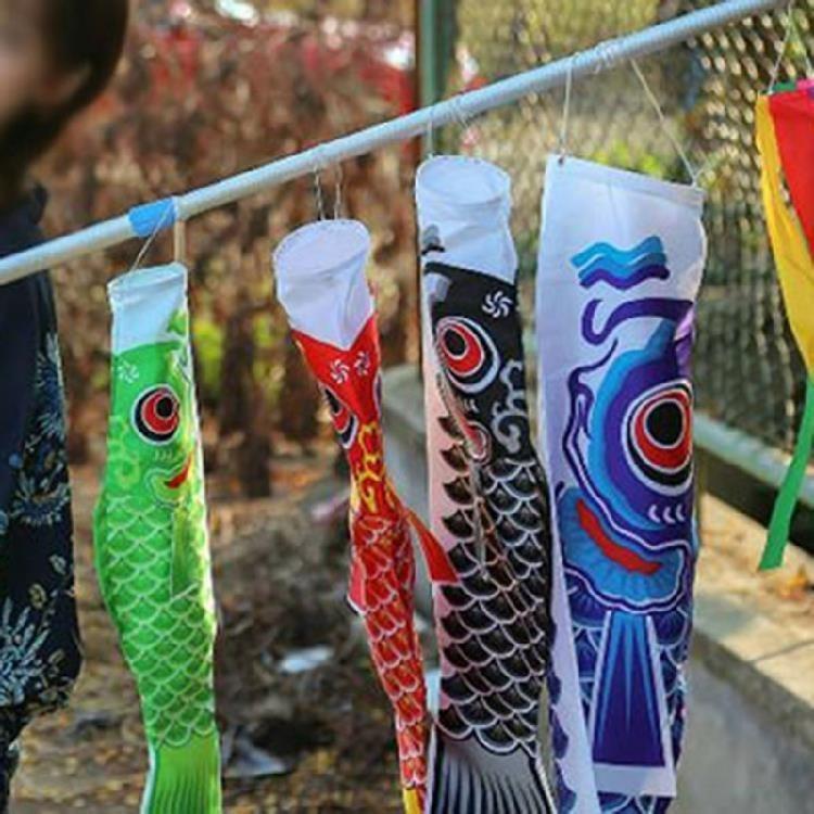 新款日式端午节饰品和风导游旗鲤鱼幡料理店装饰旗子道具