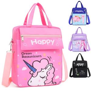 小学生男女儿童补习袋书包卡通补习包斜挎包手拎包手提多用美术包