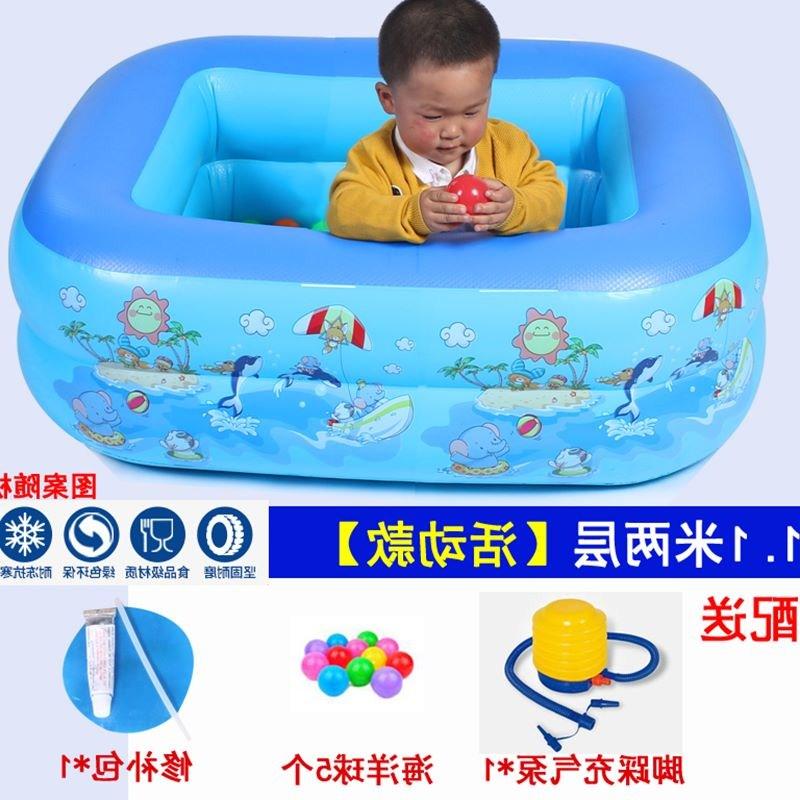 小号儿童保温家用充气折叠洗澡婴儿充气池大新生宝宝游泳加厚桶圆
