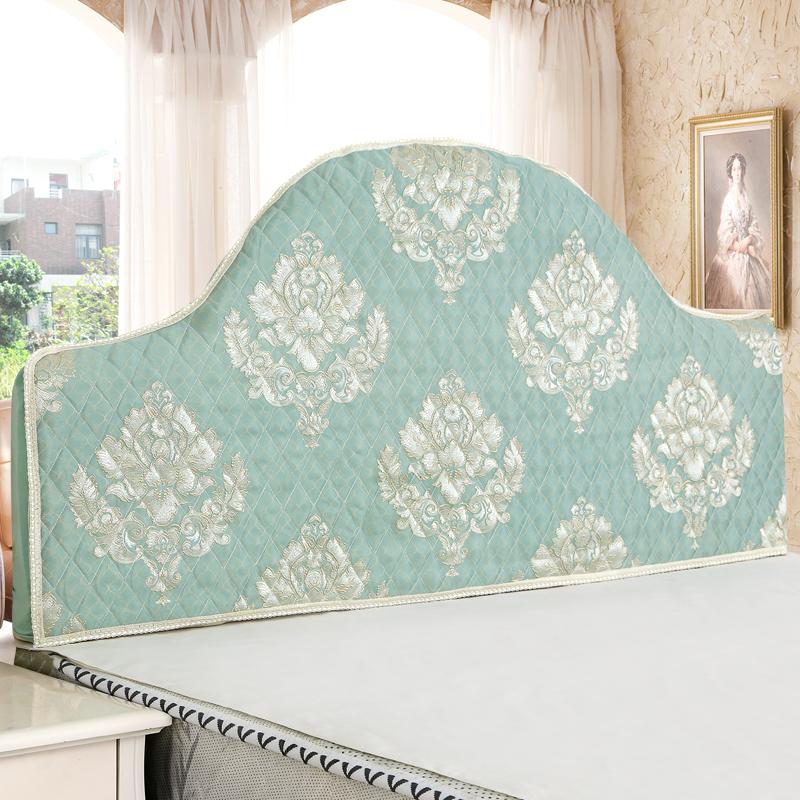定做欧式床头罩套不规则老式夹棉布艺半圆弧度异形防尘靠背保护套