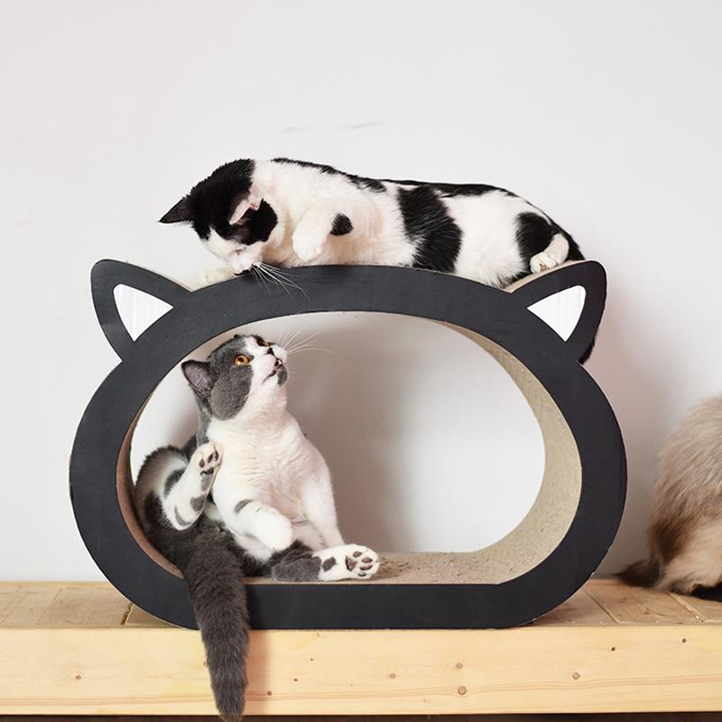 猫咪用品猫头形猫抓板大型瓦楞纸大号猫抓板磨爪器猫玩具猫咪玩具