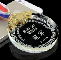 Yu Xin Crystal Small listed custom sports Prizes medal chest brand production School Games competition