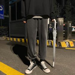 冬季加绒加厚束脚休闲裤 宽松运动卫裤男XZ707-KZ626-55