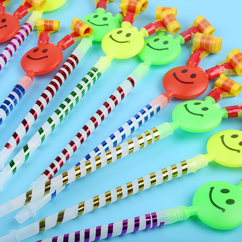 大号笑脸吹龙喇叭口哨吹卷生日聚会礼物道具幼儿童地摊小玩具厂家