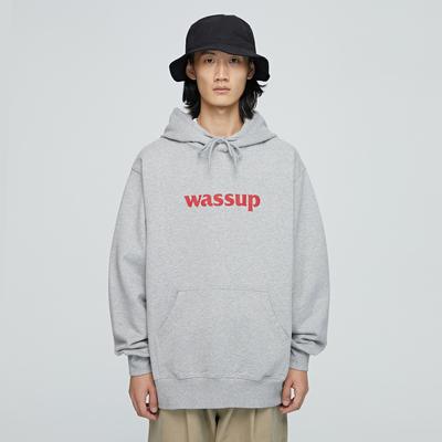 WASSUP潮牌卫衣男装上衣服外套连帽衫加绒套头秋冬季女官方旗舰店