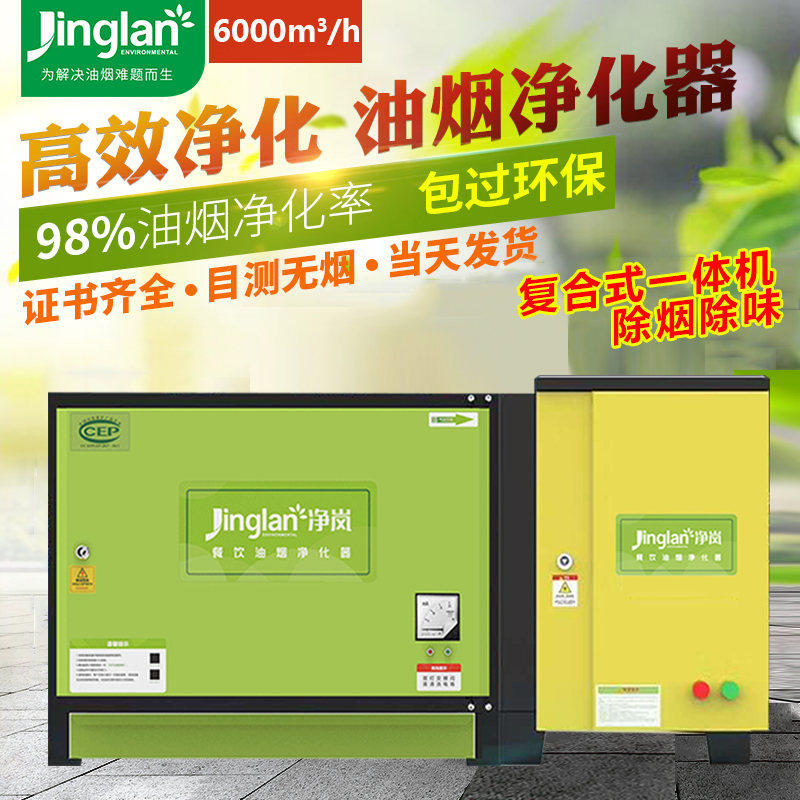 低空排放油烟净化器饭店厨房8000风量一体机小型除烟除味设备商用