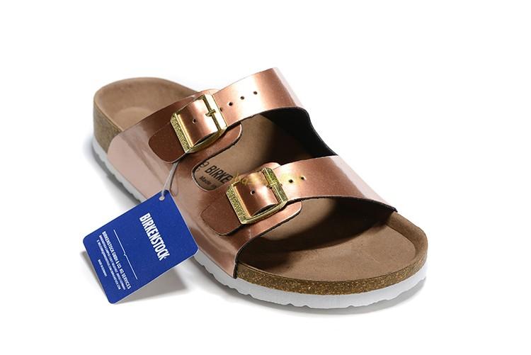 Birkenstock slippers women wear double button EVA anti slip cork sandals male summer