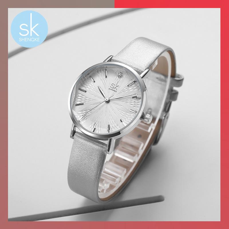 Sk boutique creative concept female student sports watch Korean version simple waterproof academic belt quartz watch