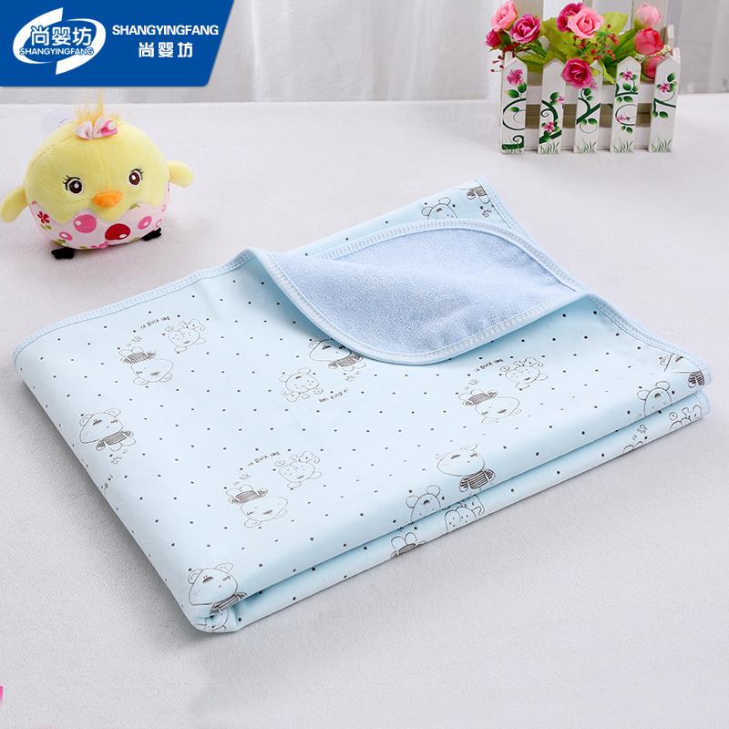 婴儿隔尿垫大号水晶绒双面纯棉防水可洗透气宝宝尿布湿夏热销用品