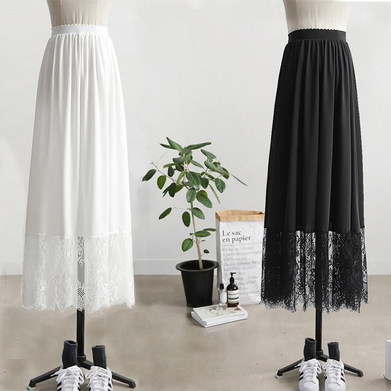 汉服内搭衬裙加长3米摆A字蕾丝花边打底裙防透打底内搭半身裙定制