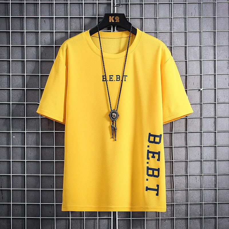 夏季新款男士T恤宽松速干潮流休闲短袖学生韩版帅气网红ins上衣潮