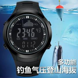 司博威钓鱼气压海拔指南针登山高度温度户外多功能专用防水手表男