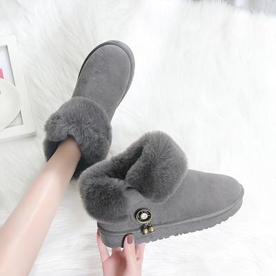 雪地靴女2019冬季新款时尚百搭防滑学生厚底棉靴加厚加绒短筒棉靴