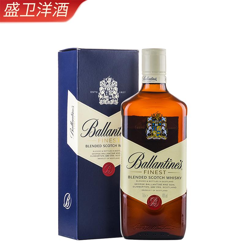 洋酒 百龄坛特醇苏格兰威士忌 BALLANTINE'S 英国原装进口 750ml