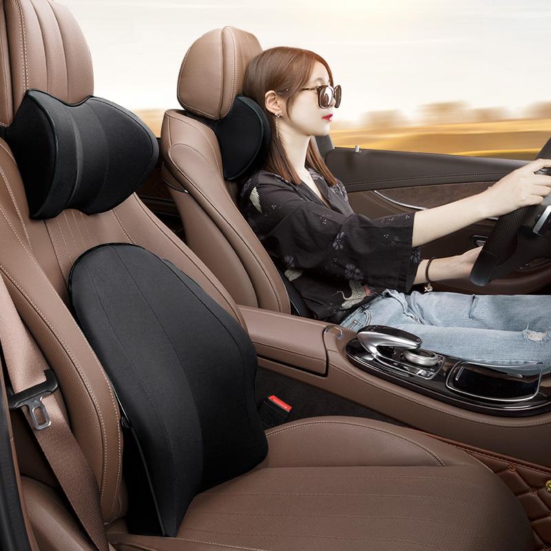 汽车头枕护颈枕车用记忆棉车内腰靠座椅脖子颈椎颈部车载枕头靠枕