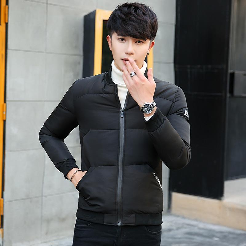 Мужской пальто зима подбитый 2017 новый облегающий, южнокорейская версия хлопок куртка случайный воротник зима хлопок мужской