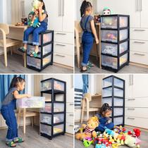 塑料收纳箱神器儿童玩具零食宝宝整理储物抽屉式家用分类多层柜子