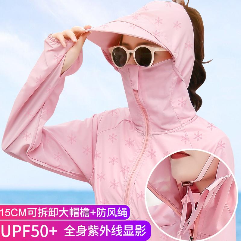 防晒衣女2021年夏季新款中长款防紫外线骑车防晒服透气罩衫薄外套