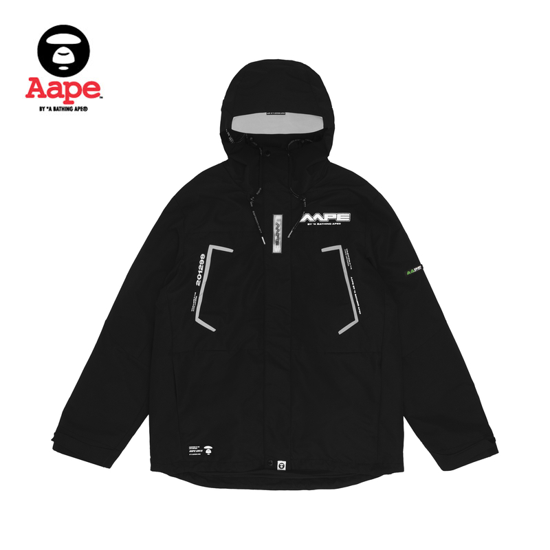 AAPE men's autumn and winter ape face letter printed hood detachable and thickened multi wear jacket jacket 7317xxd