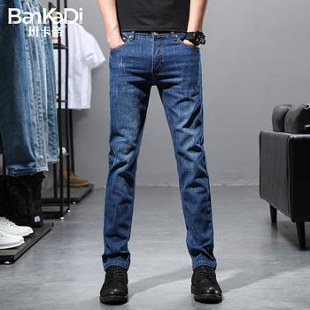 2020年新款潮流修身小直筒牛仔裤