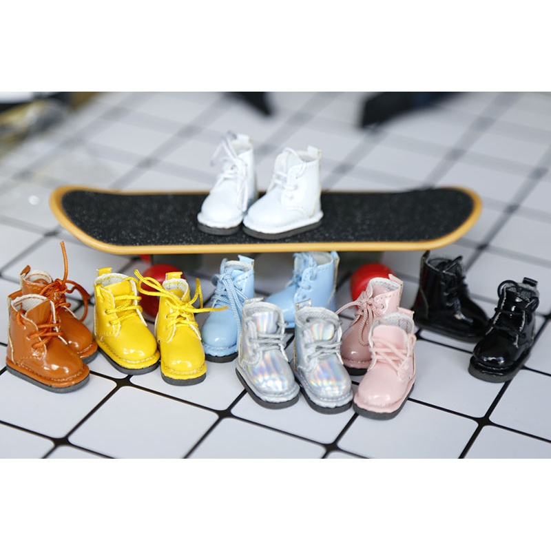 New Year! Ob11 baby shoes DDF body9 BJD GSC clay leather boots shoes 2 pairs
