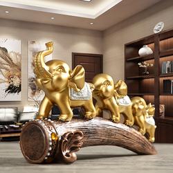 招财大象美式玄关摆件创意办公室桌书柜子装饰品酒柜客厅乔迁礼物