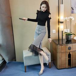气质轻熟风套装女2020年新款秋冬时尚连衣裙小个子裙子洋气两件套