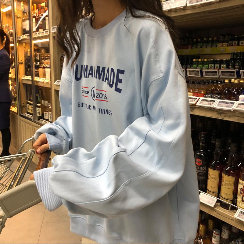 (用3元券)秋季学生长袖ins超火2019韩版t恤