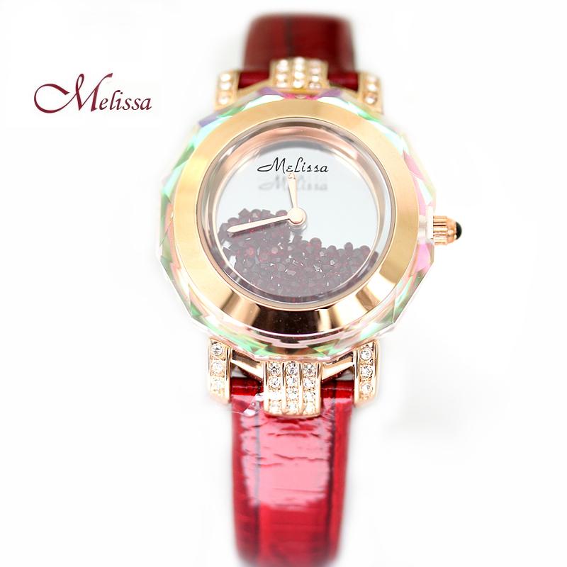 玛丽莎正品手表镶钻石英女表水晶表时尚潮流装饰小巧水钻女士手表