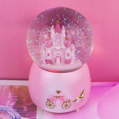 梦幻城堡水晶球音乐盒旋转女生闺蜜情侣生日礼物情人节儿童节礼品