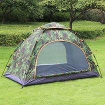 人野外钓鱼露营防雨双人情侣帐篷43沙漠骆驼户外野营全自动帐篷