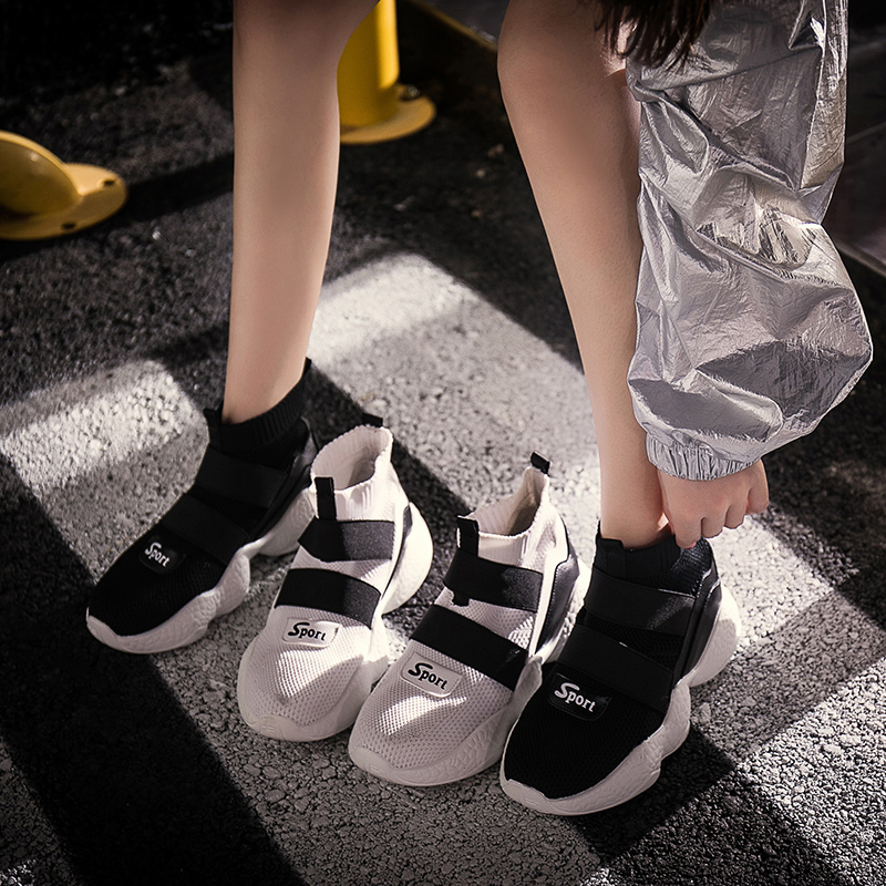 Hip hop high top shoes womens 2021 new spring and autumn thick bottom hip hop socks