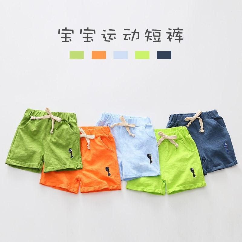 夏装宝宝运动 2018韩版儿童短裤男童童装新款五分裤子kz-b023