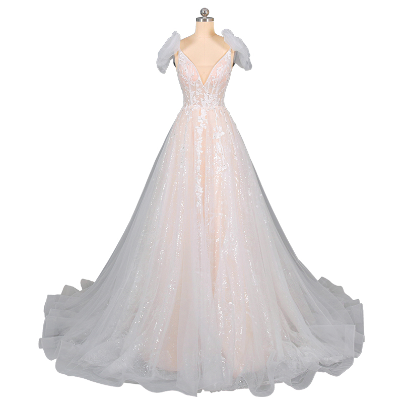 Main wedding dress 2020 new French Bridesmaid fresh super fairy small simple dream tailed champagne